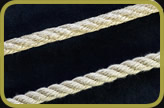 Hemp and synthetic hemp rope side by side