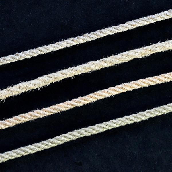 linen, hemp, jute, and synthetic hemp ropes